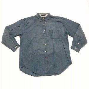 Vintage Tommy Hilfiger Jeans Denim Button Up Flag